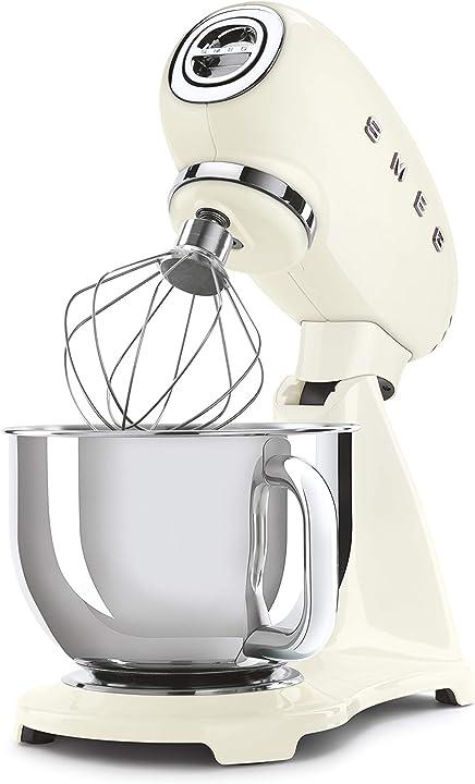 Robot da cucina 4,8 l alluminio, crema 800 w smeg smf03creu