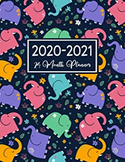 24 Month Planner 2020-2021: Daily Weekly Monthly Calendar | January 2020 through December 2021 With Holidays | To-Do List Academic Schedule Agenda ... Elephant Cover (elephant planner 2020-2021)