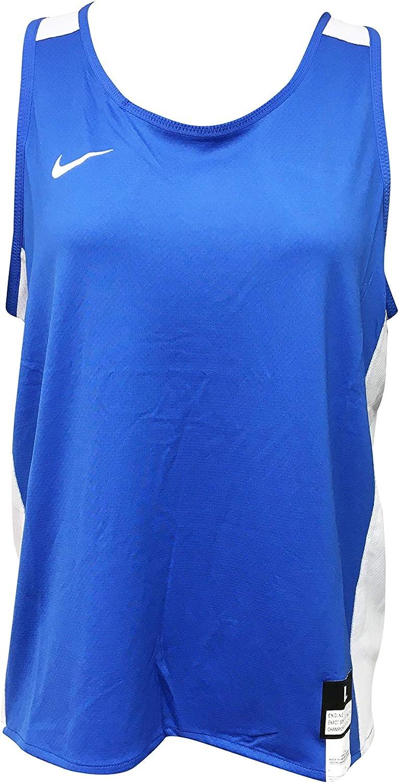 Nike Women's Tank Top Polyester/Spandex Blend Lacrosse 846362 Blue (Large)