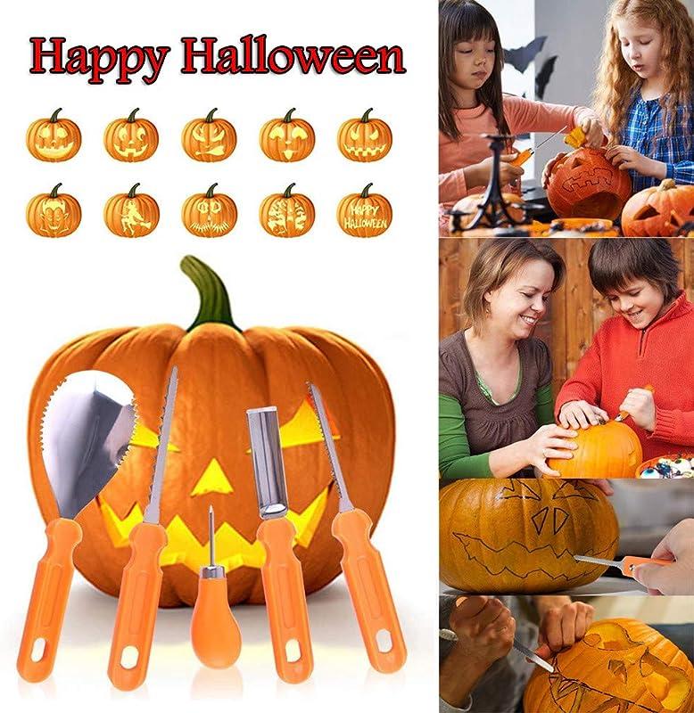 MODAO New Halloween Pumpkin Carving Kit Designs Conventional Sculpting 5 Tools