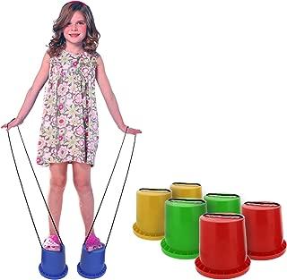 Get Out! Bucket Stilts in Blue – Kid Stilt 2-Pack (Pair) Walking Cups for Children – Kids Stepper Toy Walking Stilts