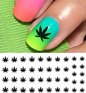Marijuana Pot Leaf Water Slide Nail Art Decals Set #1