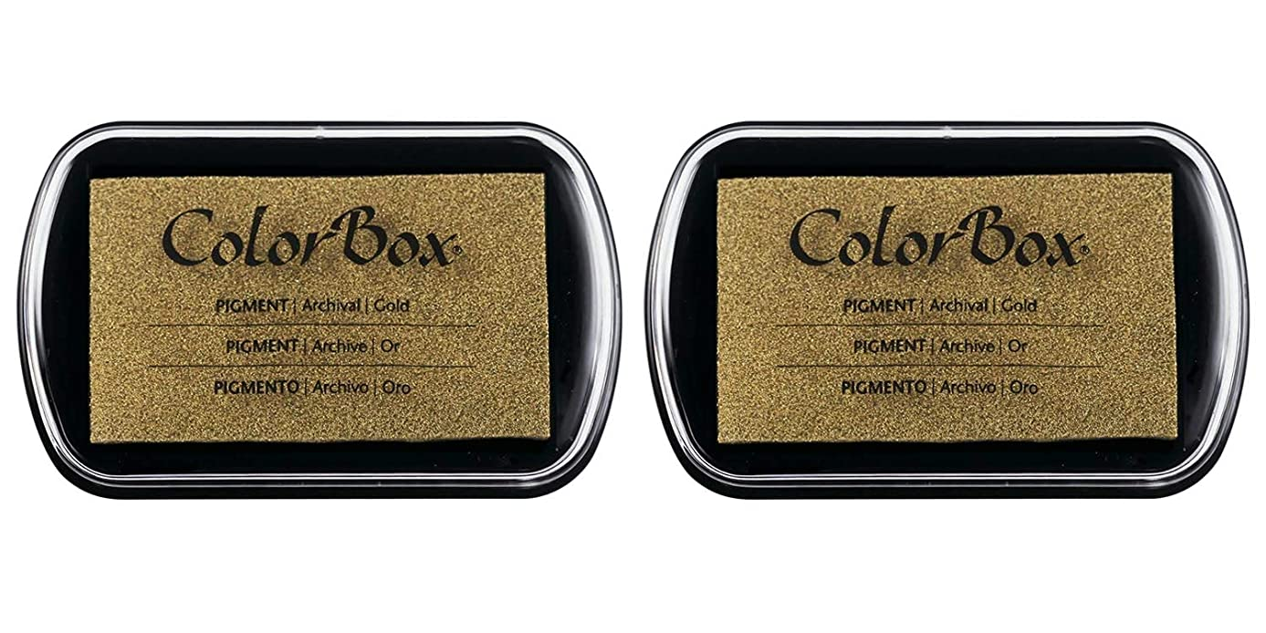 Clearsnap ColorBox Metallic Pigment Inkpad Gold 19000-19091 (2 Pack)