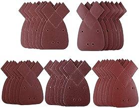 Soldmore7 Lot de 50 tampons abrasifs en Papier abrasif pour Souris 60 80 120 150 240 Grains de Souris 12 Trous