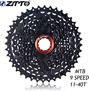 PinShang MTB Mountain Bike Bicycle Parts 9s Speed Freewheel Cassette 11-40t Wide Ratio Compatible for Shimano M430 M4000 M3000