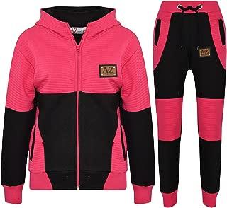 Kids Jogging Suit Boys Girls Designer's Tracksuit Zipped Top & Bottom 7-13 Years