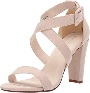 Touch Ups Women's Colbie Heeled Sandal, Beige, 8.5 M US