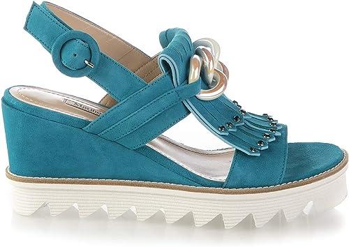 Marino Fabiani 6731 Turqoise Wedge Italienische Designer Sommer Damen Sandalen