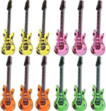 Novelty Place Inflatable Guitar Set for Kids & Adults, 35 Inches (Pack of 12)