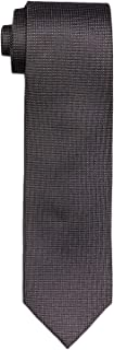 Calvin Klein Men's Silk Tie Black Geometric Print, Black, One size