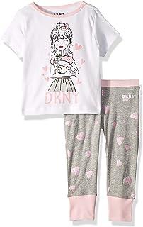DKNY Girls' Printed T-Shirt and Pant Sleepwear Set