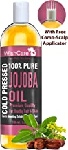 WishCare Pure Cold Pressed Natural Unrefined Jojoba Oil - Moisturizer for Skin, Hair and Nails - 100 Ml