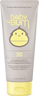 Sun Bum Baby Bum Mineral Based Moisturizing Sunscreen Lotion SPF 30 | Reef Friendly Broad Spectrum UVA / UVB Protection | Natural, Hypoallergenic, Paraben Free, Pediatrician Approved | 3oz Tube