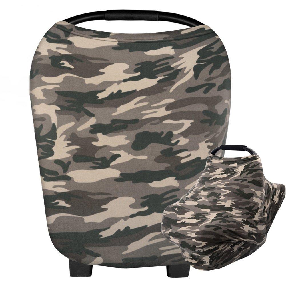 HONEY$HOMEY Camouflage Baby Car Seat Cover, Multi-Use Nursing Breastfeeding Scarf, High Chair Stroller Head Cover