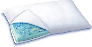 Sleep Innovations Reversible Cooling Gel Memory Foam & Memory Foam Pillow with Hypoallergenic Cover, Made in The USA with a 5-Year Warranty, King Pillow