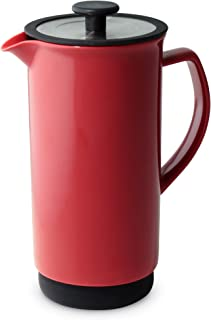 Forlife FL/344-RED Cafe Style Coffee/Tea Press, 946 ml, Red