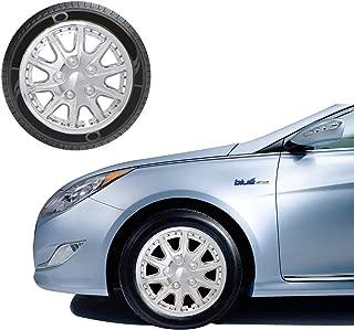 Oshotto OSHO-WC04C 12-inch Black Chrome Finish Universal Fitting-Push Type Car Wheel Cover (Set of 4)