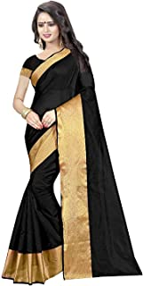 TRYme Fashion Women's Cotton Silk Saree With Blouse Piece (New Collection Saree T1)