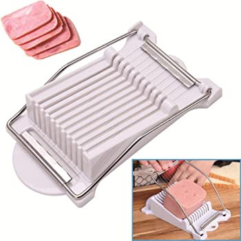 Stainless Steel Ham Cheese Slicer For Egg Spam Cutter Tools Kitchen P9Y5