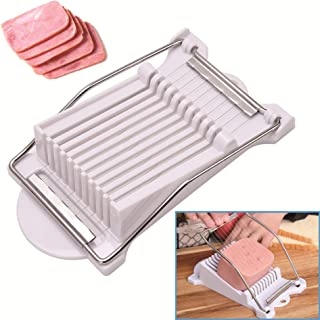 Luncheon Meat Slicer Stainless Steel Durable Egg Fruit Slicer Soft Food Cheese Sushi Cutter Canned Meat Cutting Machine wi...