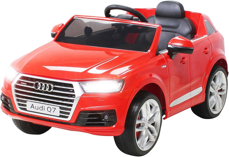 Sin impuestos Acciónbikes Infantil Coche Coche Coche Eléctrico Audi Q7 2017 Licencia Original Coche Niños Vehiculo Infantil Electro Auto Juguete para Niños - Rojo  ventas en linea