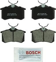 Bosch BC340 QuietCast Premium Ceramic Disc Brake Pad Set For: Audi A3, A4, A6, A8, Allroad,  Quattro, RS6, S4, S6, S8, TT; Volkswagen Beetle, Golf, Jetta, Passat, Quantum, Scirocco, Vento, Rear