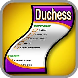 Duchess Diet Shopping List