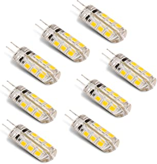 Improvhome G4 LED Bulb for Fancy & Decorative Lights AC 220V - Replacement of 20W Halogen Mirchi Bulb. (Yellow, 2W)- Pack of 8
