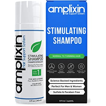 Amplixin Stimulating Shampoo - Healthy Hair Growth & Hair Loss Prevention Treatment For Men & Women With Thinning Hair - Sulfate-Free Dht Blocking Formula, 8Oz