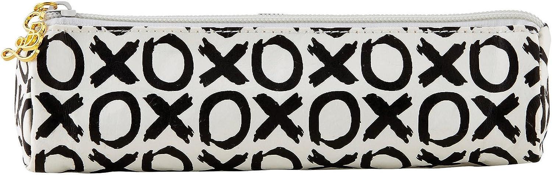 XOXO Black and White 7 x 3 Inch Washable Paper Pen Glasses Case