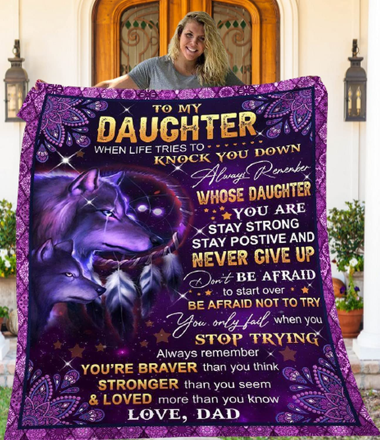 To My Daughter From Seasonal Wrap Introduction Dad Throw Max 41% OFF Blanket Flannel Soft Super Lightwe