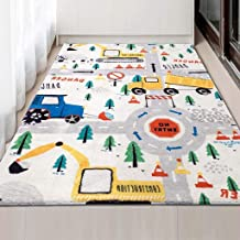 Baby Play Mat Padded Crawling Carpet Anti-Slip Kids Area Rugs Game Pad Blanket for Infant Child, Extra Large 47 in X 71In,A