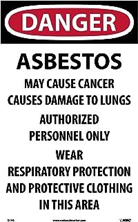 D195 National Marker Danger Asbestos Hazard Paper Sign (Pack of 100)