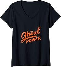 Womens Ghoul Power Funny Feminist Halloween Costume BFF Empowerment V-Neck T-Shirt