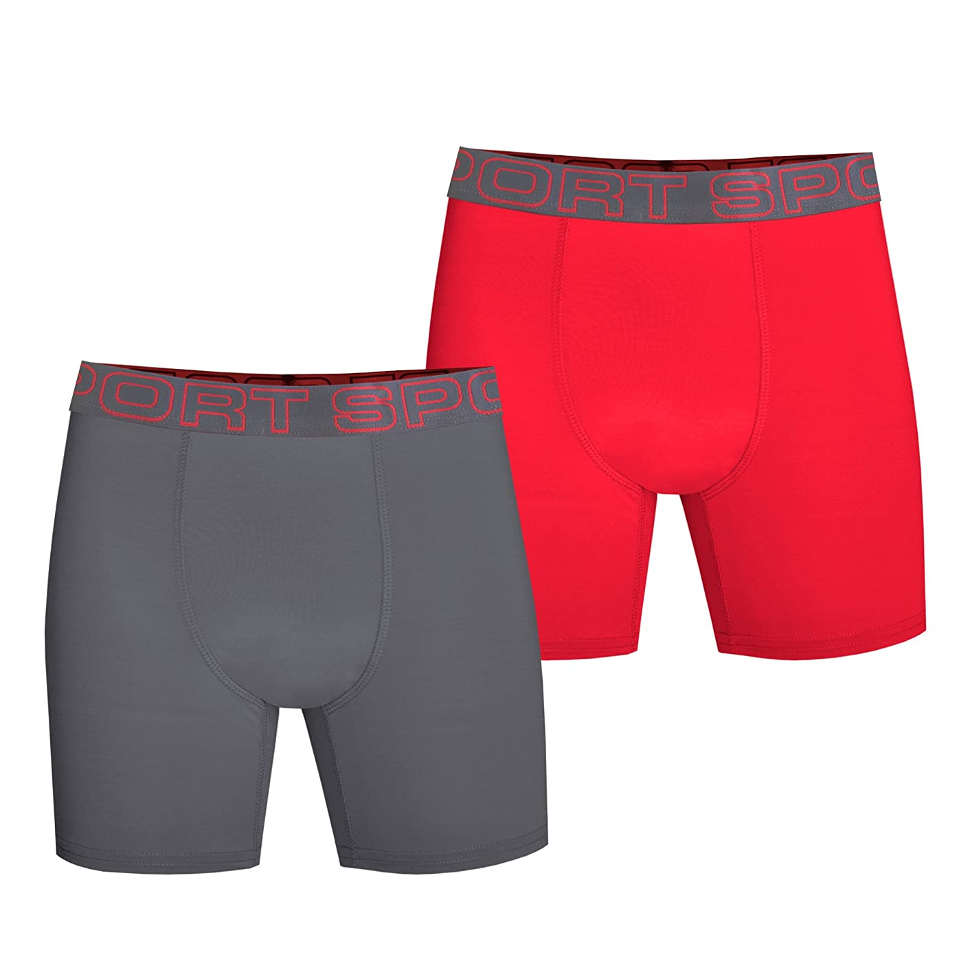 Watson's Boy's 2 Pack Pro Sport Performance Underwear, Multi, Large