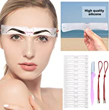 Eyebrow Templates 12 Pairs of New Improved Eyebrow Stencils with Straps, Fashionable Eyebrow Shapes,Suitable Sizes,Easy 3 Minutes Eyebrow Makeup Tools for A Variety of Face