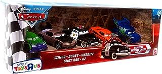 Disney / Pixar CARS Movie Exclusive 155 Die Cast Car Radiator Springs Chase 5Car Gift Pack Wingo, Boost, Sheriff, Snot Rod, DJ