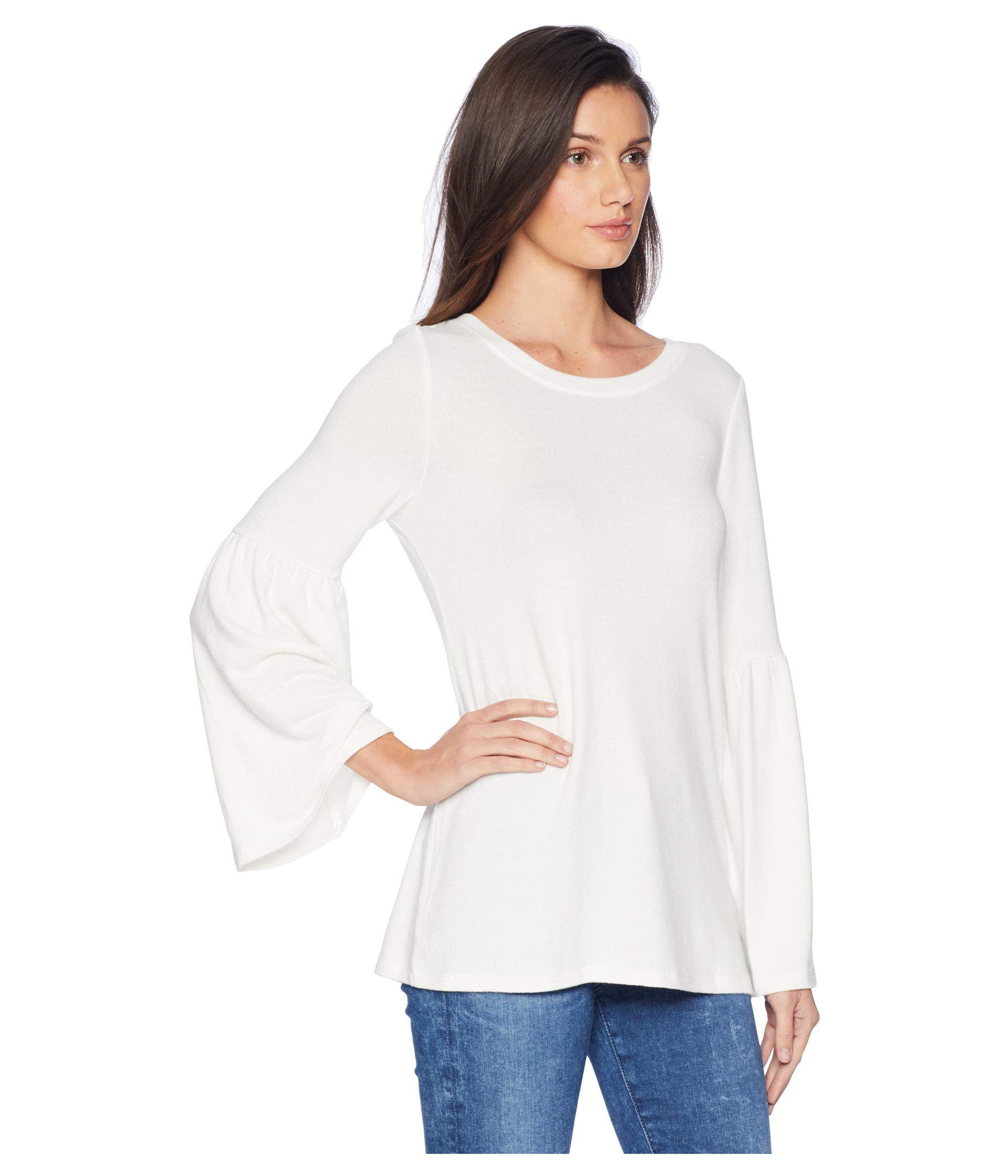 Touch With ivory Ks0k3611 Sleeves Kensie Top Plush Bell Cloud axFqOH