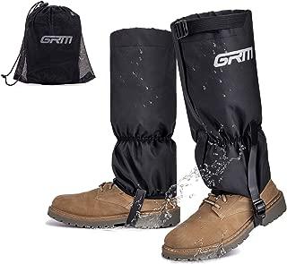 GRM Leg Gaiters Waterproof Snow Boot Gaiters, Anti-Tear 600D Oxford Fabric Hiking Gaiters with Triple Adjustable Straps & Upgraded Hook Loop for Snowshoeing, Hiking, Hunting, Gardening