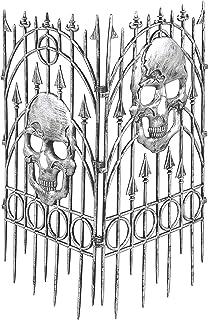 Forum Novelties Silver Skull Fence