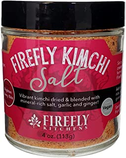 FIREFLY KITCHENS Firefly Kimchi Salt   A Bright Freeze-Dried Ferment-Infused with Mineral-Rich Salts and Organic Spices   Vegan   Packed in Glass   Popcorn Topper   Glass Rim Salt