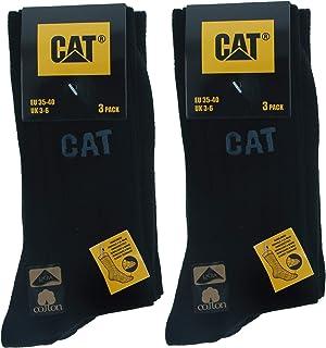 Caterpillar, Twised Socks 6 pares de calcetines para hombre en algodón suave y elástico, cosidos a mano