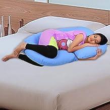 Novo 3kg PP Cotton comfort Pregnancy & Maternity Pillow, Beige - 145x80x25cm,