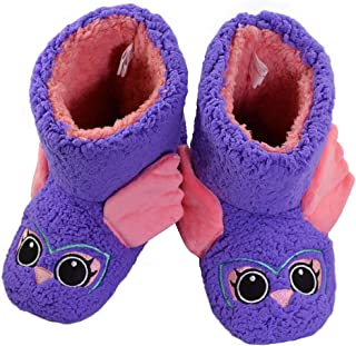 9549a347b8b9 Little Kid Comfortable House Shoes Cute Owl Bootie Slippers