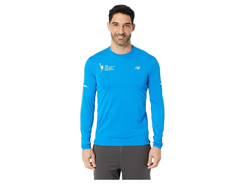 New Balance NYCM NB Ice 2.0 Long Sleeve Top (Laser Blue Heather) Men