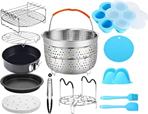 Air Fryer Pressure Cooker Accessories Compatible with Instant Pot Air Fryer Lid 6Qt - Including Springform Pan, Pizza Pan, Egg Bites Mold, Skewers Rack and More