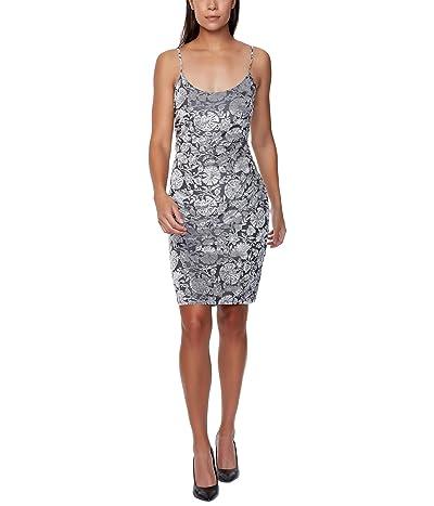 Bebe Velvet Burnout Slip Dress
