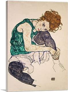 ARTCANVAS Seated Woman with Bent Knee 1917 Canvas Art Print by Egon Schiele - 18