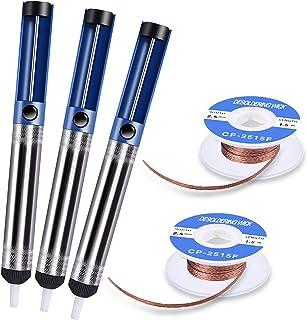 TABIGER Desoldering Wick & Desoldering Pump, 3 Pcs Solder Sucker & 2 Pcs Solder..