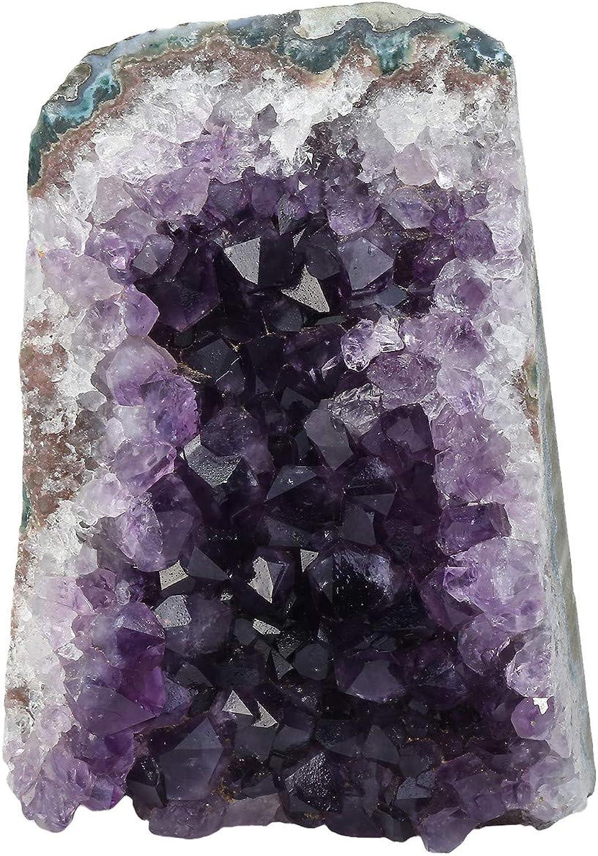 Nupuyai Natural Amethyst Cluster Specimen Stone Home Decoration, Raw Crystal Quartz Geode Figurines Office Decor